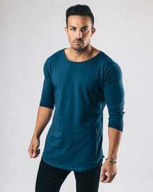Essential Long Sleeve Scoop - Muted Blue