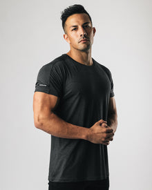 Premium Rolled Muscle Tee - Heather Black