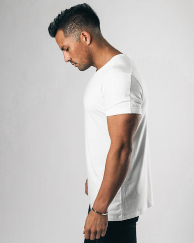 Premium Rolled Muscle Tee - White