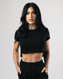 Premium Crop Top - Black