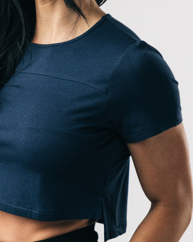 Premium Crop Top - Midnight Blue