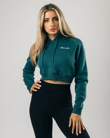 Signature Performance Crop Hoodie - Nova Blue