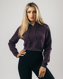 Signature Performance Crop Hoodie - Raven