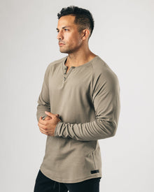 LUX Long Sleeve Henley - Joshua Tree