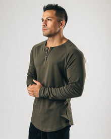 LUX Long Sleeve Henley - Wren