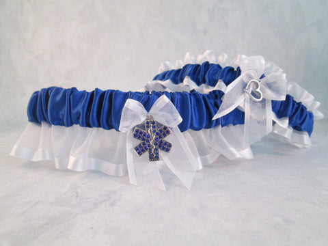 EMT Wedding Garter Set - Something Blue Wedding Garters