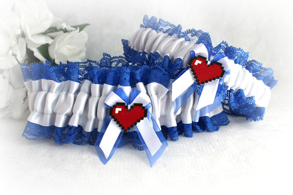 Video Game Inspired Wedding Garter Set - Custom Garters.