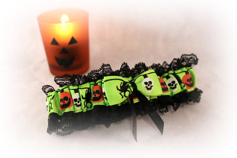 Special Occasion Holiday Garter - Halloween Wedding Garter