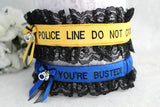 Police Line Do Not Cross Garter Set - You're Busted! - Something Blue