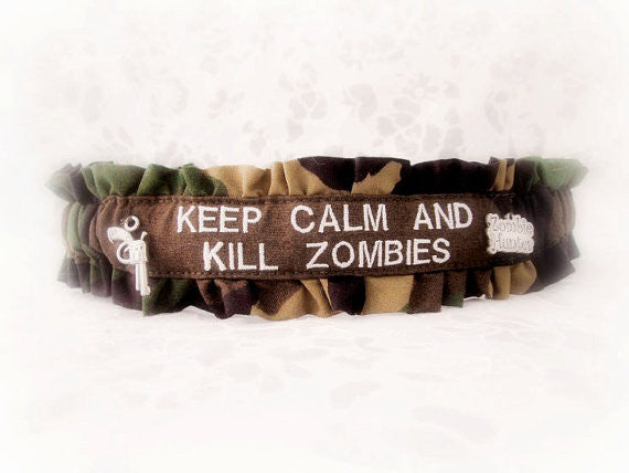 Zombie Fun Garter - Keep Calm And Kill Zombies