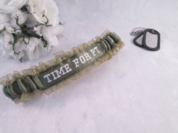 Fun Military Garter - Bridal/For Fun Garter - Embroidered Garter
