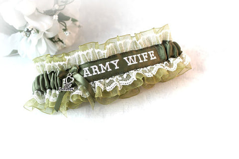 Military Wedding Garter - Army Garter - Military Life