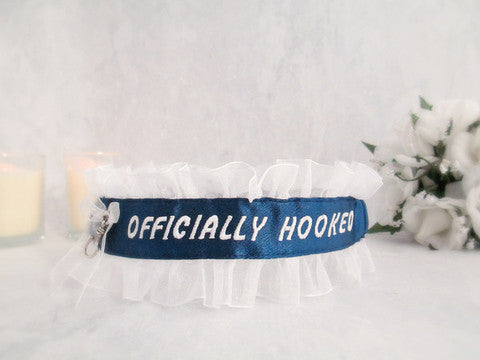 Fisherman Embroidered Fun Garter - Personalized Garter.
