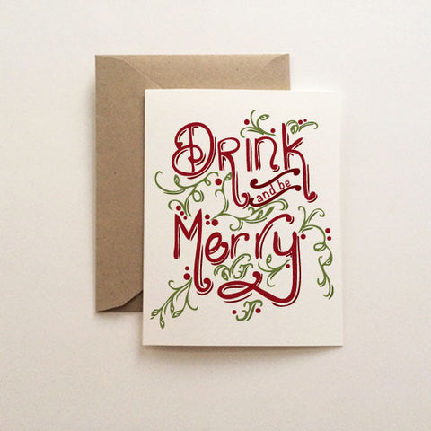 Drink and Be Merry Christmas Card
