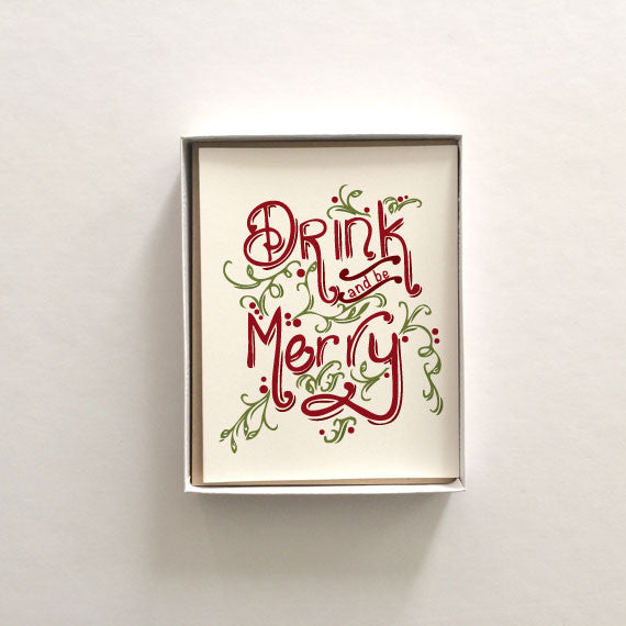 Drink and be Merry Boxed Set Holiday Cards