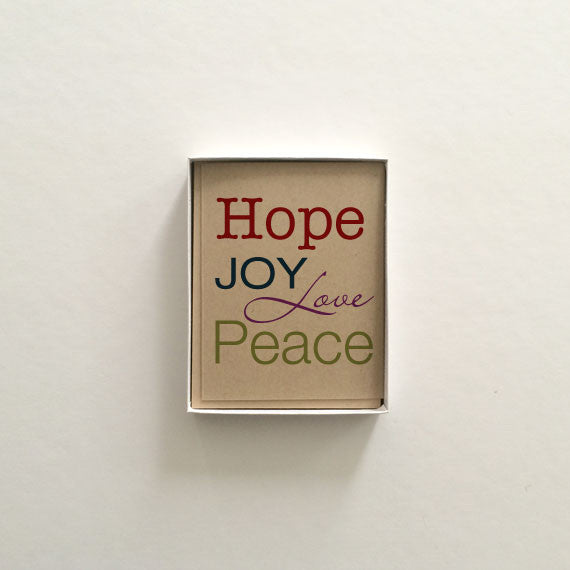 Hope Joy Love Peace Boxed Set Holiday Cards