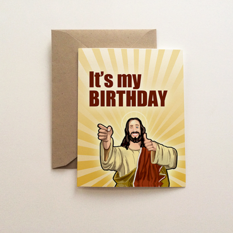 Jesus Birthday Holiday Card