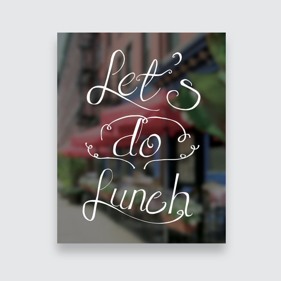 Let's Do Lunch Art Print