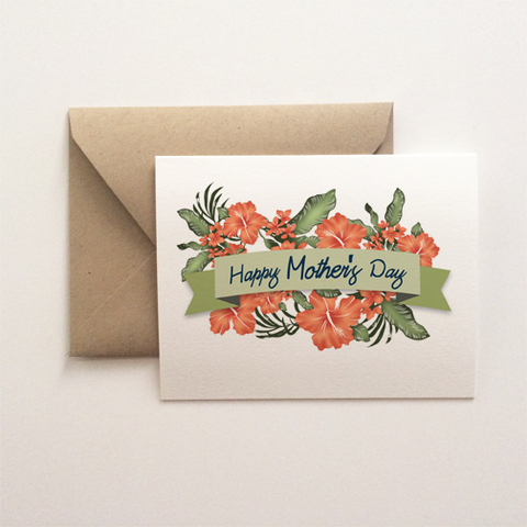 Hibiscus Mother's Day Card
