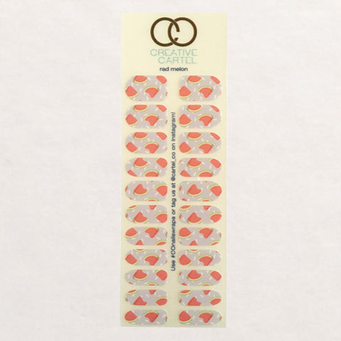 Nail Wraps - Rad Melon