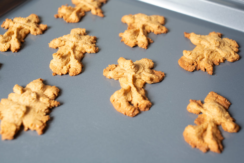 Vegan Gluten Free Peanut Butter Press Cookies