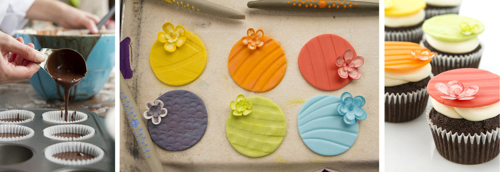 Cupcake Toppers with Sugar Shapers