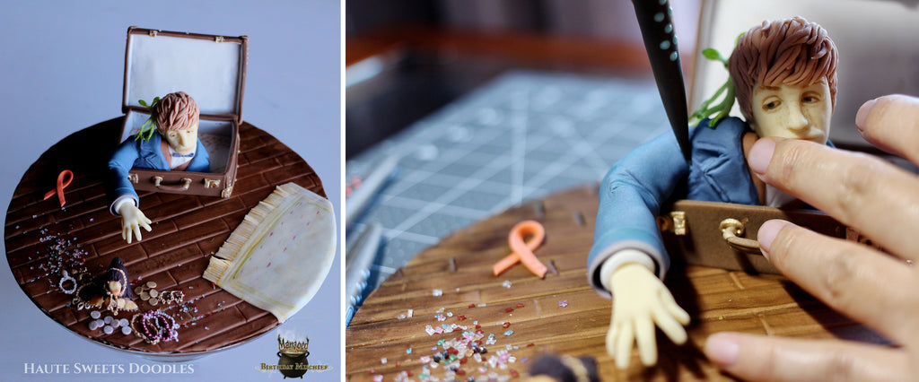 Hiromi uses Sugar Shapers to sculpt Newt Scamander
