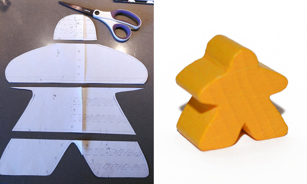 Cut up your meeple template
