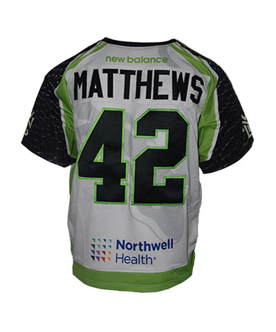 2018 Mark Matthews #42 Game-Issued White Jersey