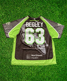 2020 Mike Begley #63 Game-Issued White & Black Jerseys