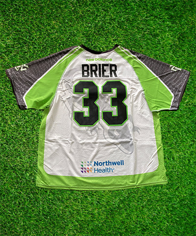 2020 Frank Brier #33 Game-Issued White & Black Jerseys