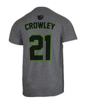 Kevin Crowley #21 Gray Player Tee