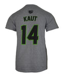 Austin Kaut #14 Gray Player Tee