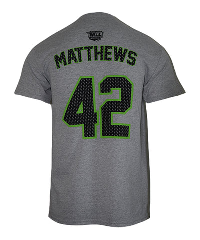 Mark Matthews #42 Gray Player Tee