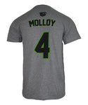 Dylan Molloy #4 Gray Player Tee