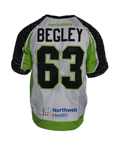 2019 Mike Begley #63 Game-Worn White Jersey