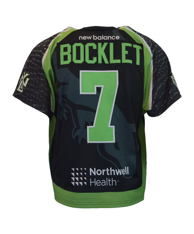 2018 Mike Bocklet #7 Game-Worn Black & White Jerseys