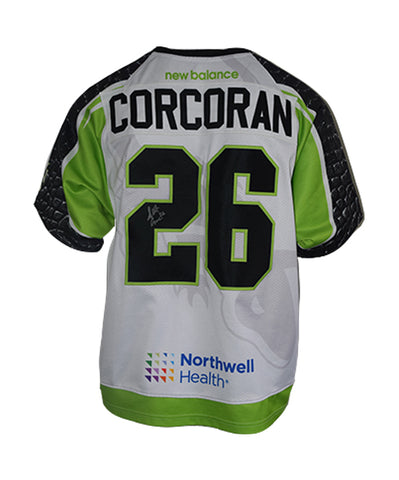 2019 Scott Corcoran #26 Game-Worn White Jersey