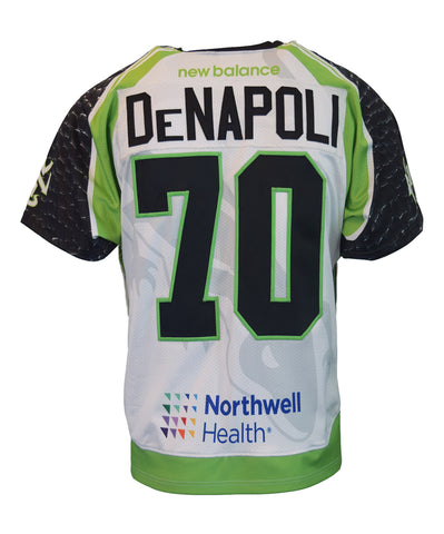 2018 Steve DeNapoli White #70 Game-Worn Jersey