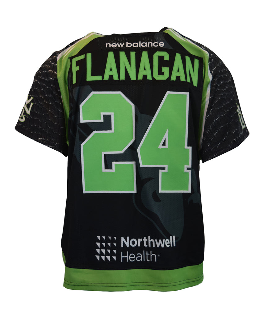 2018 Ryan Flanagan #24 Game-Worn Black & White Jerseys