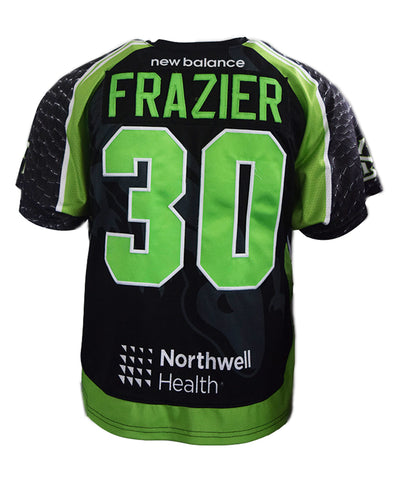 2018 Pat Frazier #30 Game-Worn Black & White Jerseys