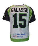 2018 Nicky Galasso #15 Game-Worn Black & White Jerseys