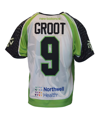 2018 Dan Groot  #9 Game-Worn Black & White Jerseys