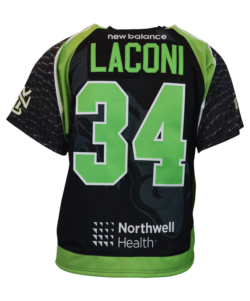 2018 Pat Laconi #34 Game-Issued Black & White Jerseys
