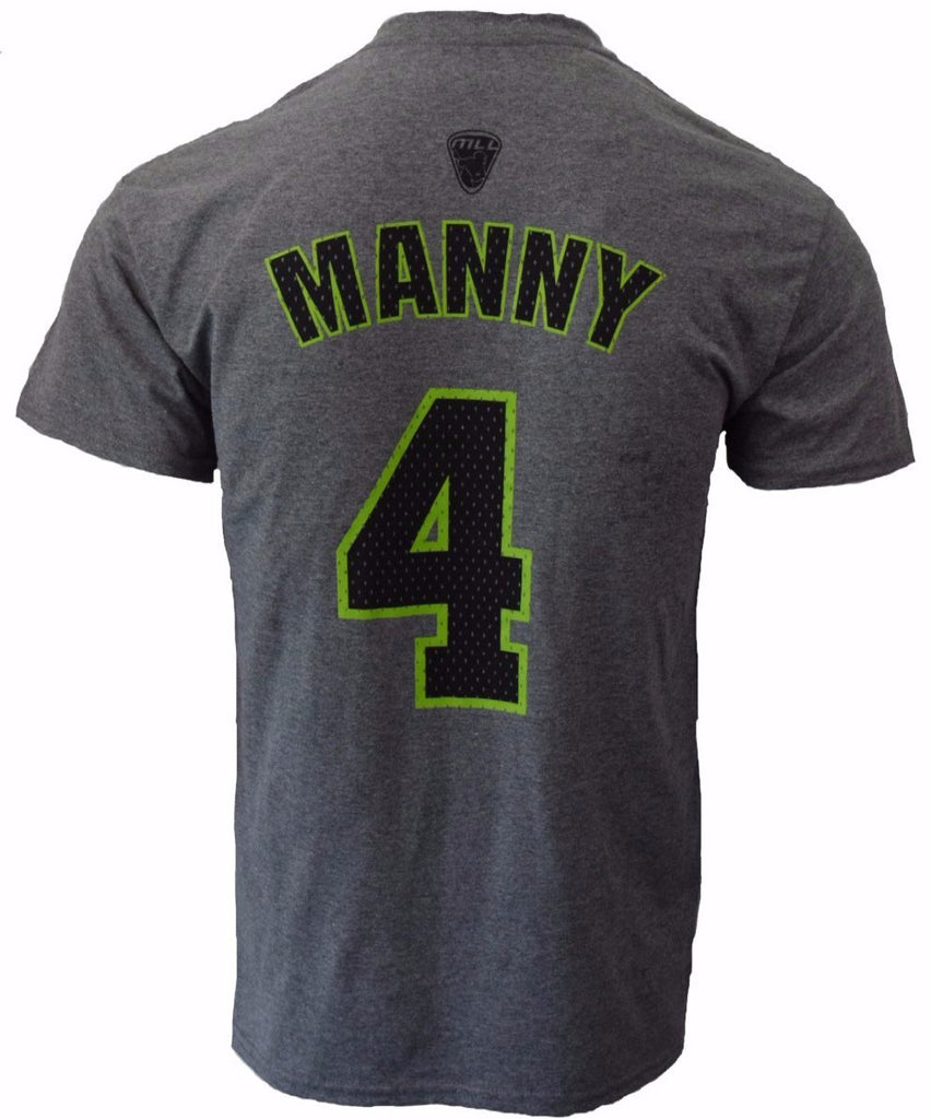 Will Manny #4 Grey Player Tee - FINAL SALE