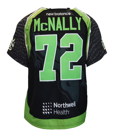 2018 Kevin McNally #72 Game-Worn Black & White Jerseys
