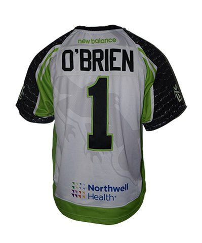 2019 Sean O'Brien #1 Game Worn Black & White Jersey