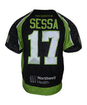 2019 Joey Sessa #17 Game-Worn Black & White Jersey