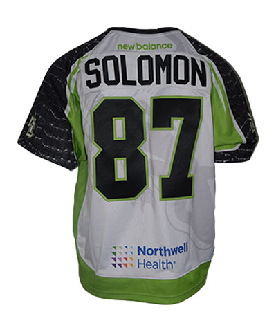 2019 Nate Solomon #87 Game-Issued White Jersey