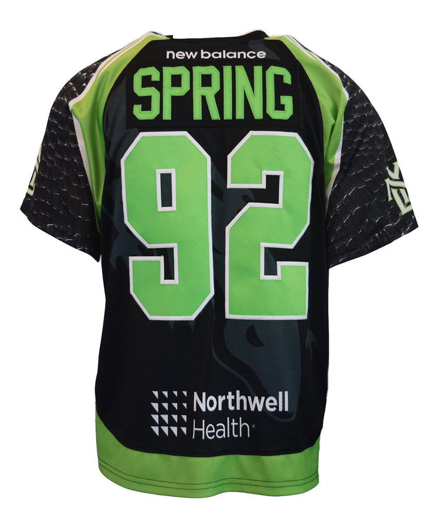 2018 Alex Spring #92 Game-Worn Black & White Jersey